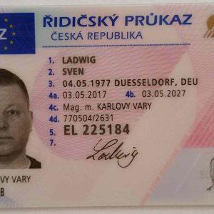 tschechischer Führerschein